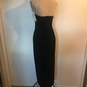 Vintage Dresses - Vintage velvet and rosette gown dress